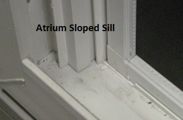 Atrium sloped sill