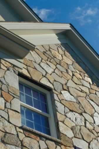 Multiple Window Panes Create Order in a Random Field Stone Wall