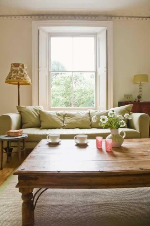 Second Story Apartment Window Enjoys a Garden View