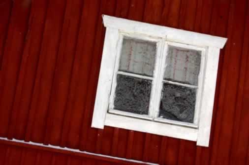 An Old Barn Window Is Folk Art in Itself