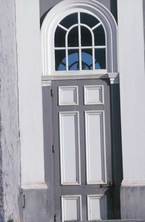 Tall Exterior Six Panel Door with Fanlight