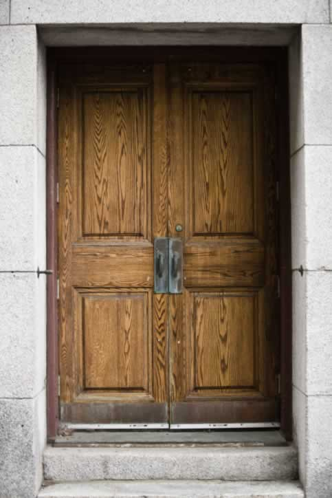 /doors/types/wood/huge-double-pine-doors-copper-handles-kick-plates.php