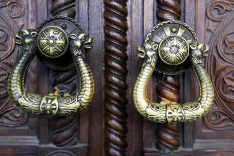 Custom Doors with Period Hardware