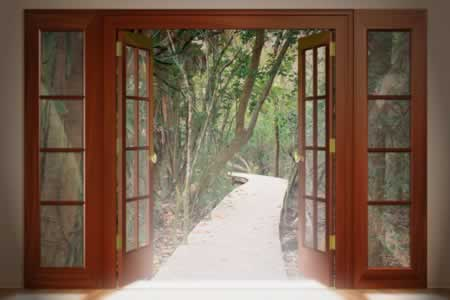 french doors that open to your garden door and window