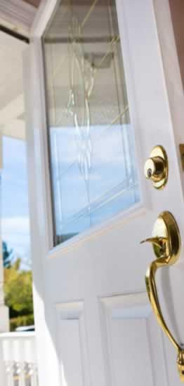 Decorative, Beveled Glass Doors