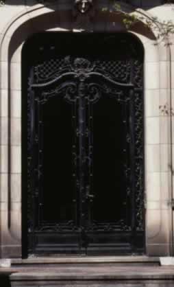 Metal Doors Add Old-World Charm