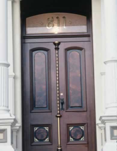 Oak Doors Create a Regal Entry