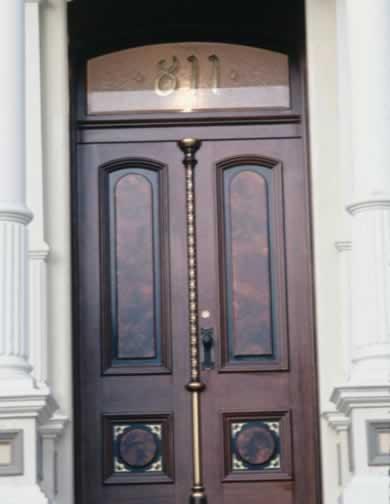 Oak Doors Create a Regal Entry