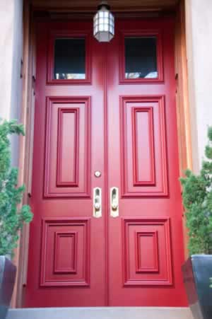 Red Panel Doors Add Flair, Distinction