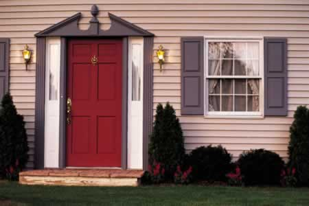 Using Red Vinyl Doors for your Home