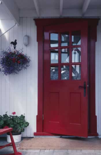 Red Wooden Doors Offer Bold Elegance