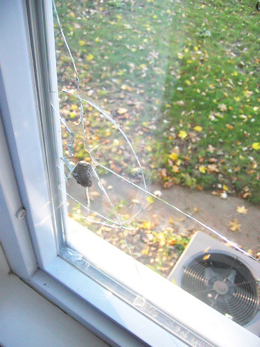 cracked window glass repair