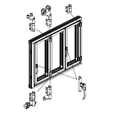 folding door diagram
