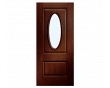 European 2-Panel Oval Entry Door