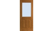Textured 2 Panel Door Half Lite