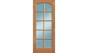 10 Lite Camber Top Knotty Alder Door with Wood Muntins/Clear Glass